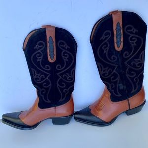 Nine West Women's Leather Cowgirl Boots Size 6.5M